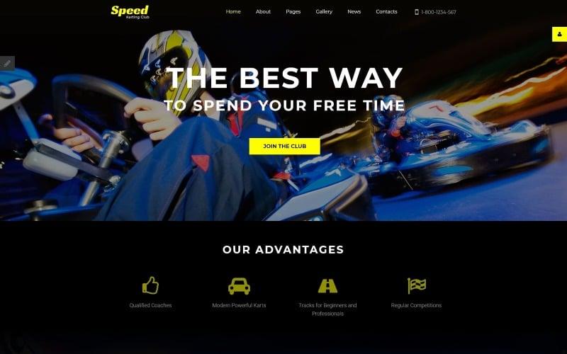 Speed - Karting Club Responsive Joomla Template