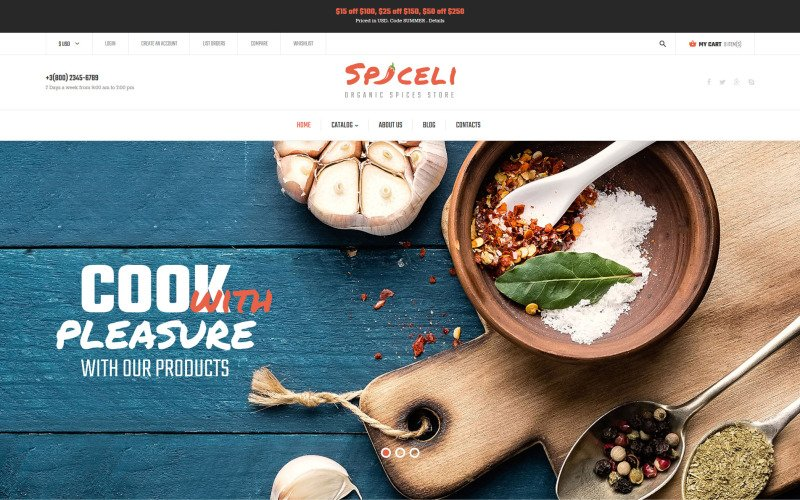 Spice Shop VirtueMart Template