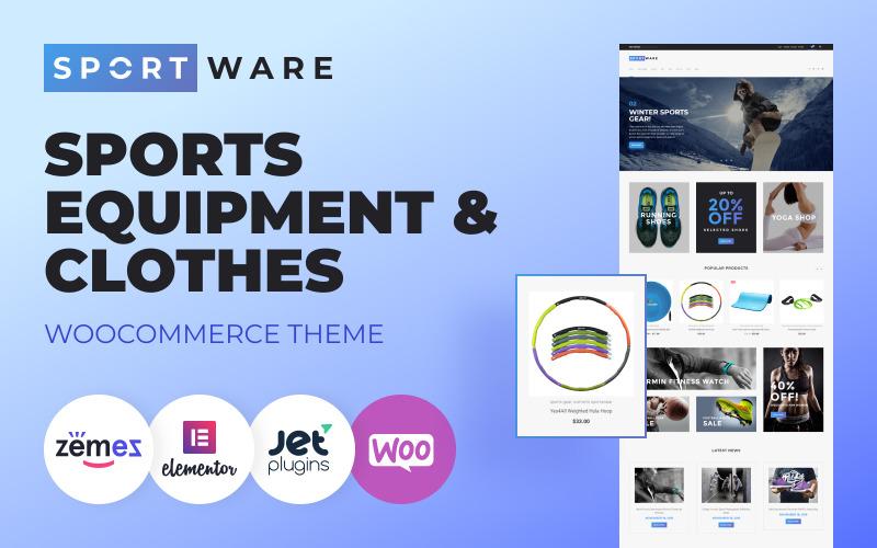 SportWare - sprzęt i odzież sportowa Motyw WooCommerce