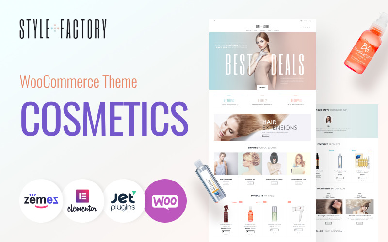 Style Factory - Haarpflege & Haarstyling WooCommerce Theme