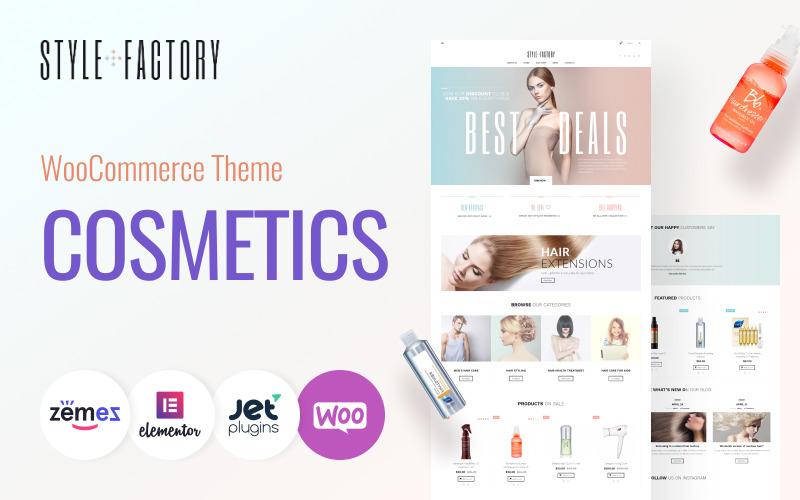 Style Factory - Tema WooCommerce per la cura dei capelli e lo styling dei capelli