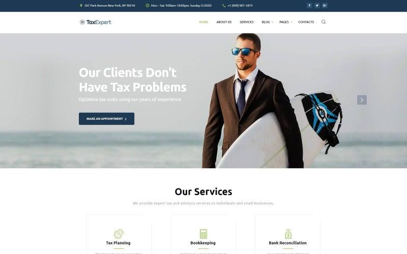 Tax Advisor & Financial Consultant Website Template
