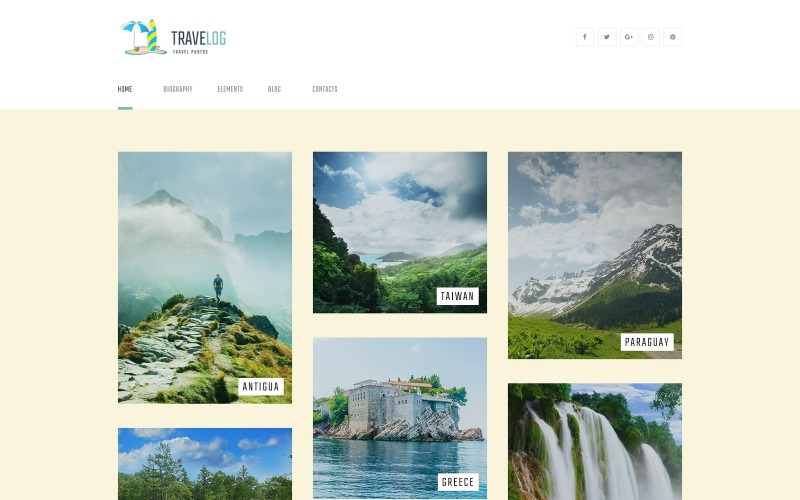 Travelog - Travel Photo Blog WordPress Theme
