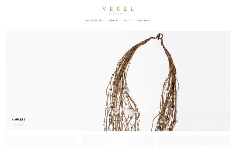 Verel - тема WordPress для ювелирных изделий ручной работы