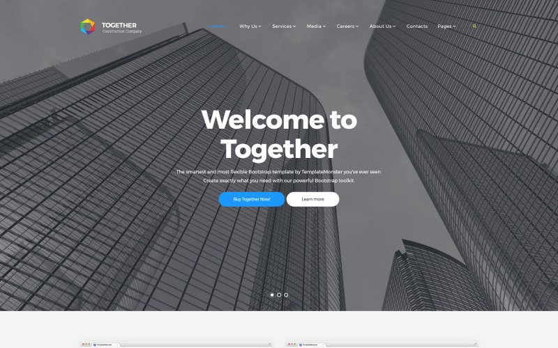 Together Construction Company Website Template