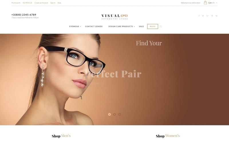 Visualoo - Optics & Optometry Magento Theme