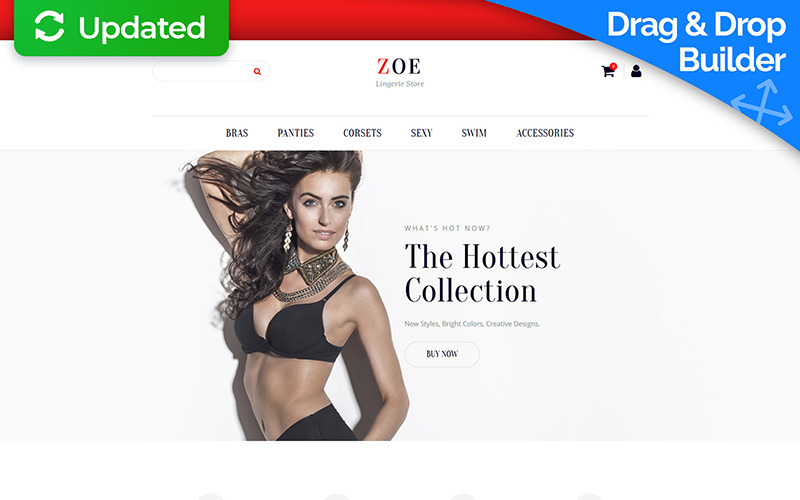 Zoe Fashion Responsive MotoCMS Šablona elektronického obchodu