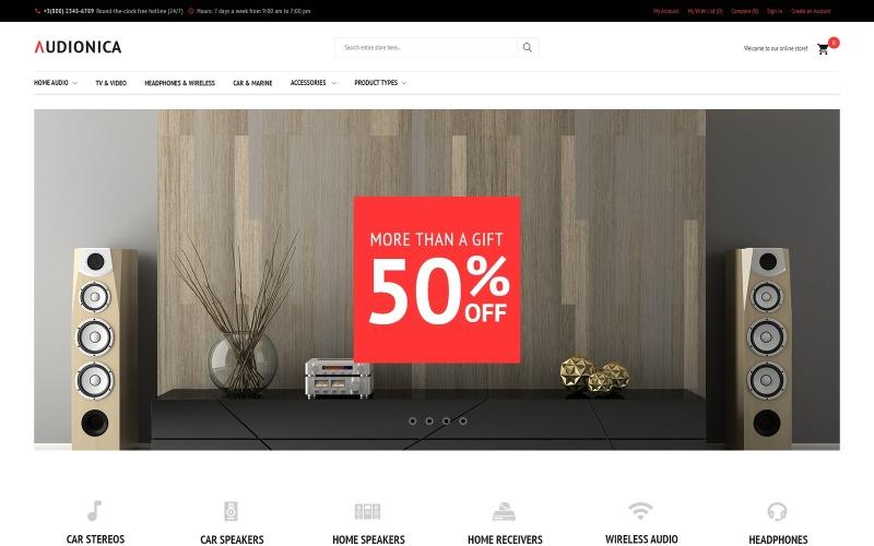 Audionica - Tema Audio Shop Magento