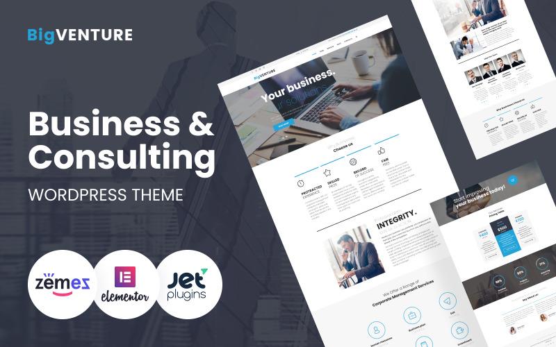 BigVenture - Business & Consulting WordPress Elementor Theme