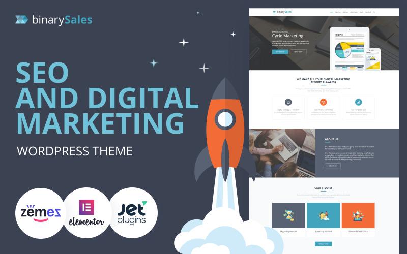 BinarySales - тема WordPress для SEO и цифрового маркетинга
