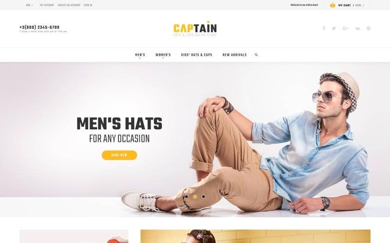 Captain - Magento тема для интернет-магазина шляп и кепок