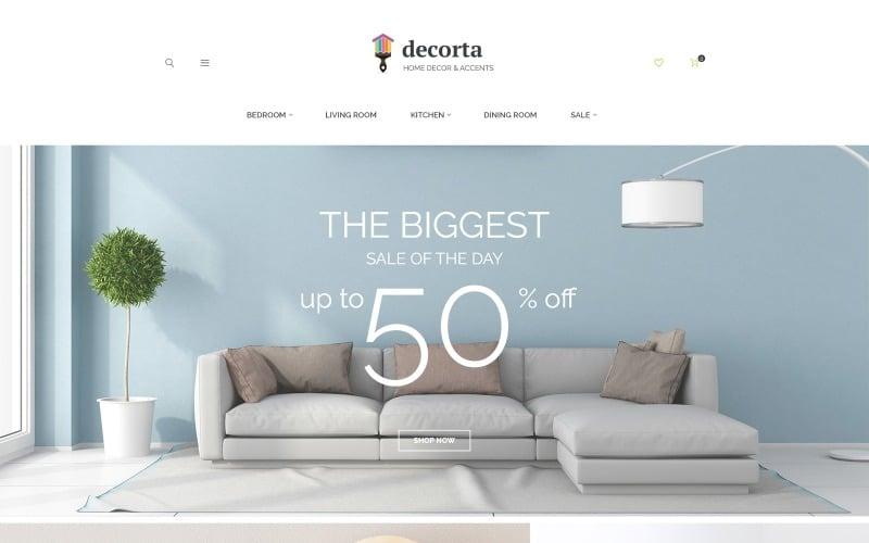 Decorta - Адаптивна тема для домашнього декору Magento 2 Тема Magento