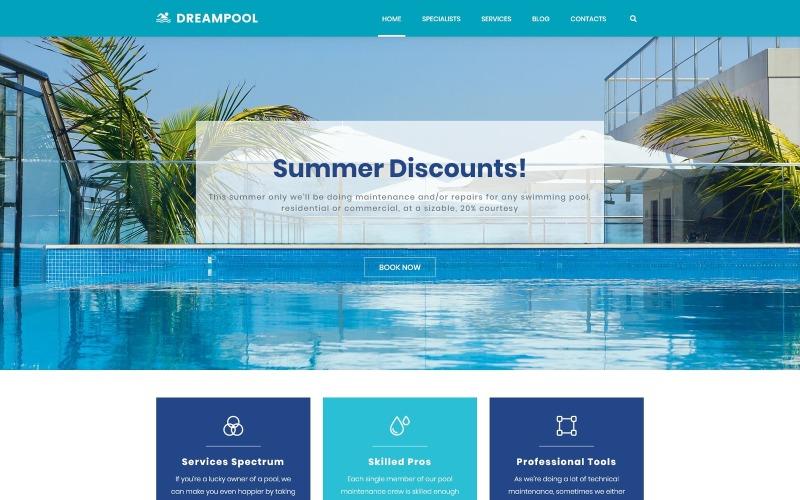 Dream Pool - WordPress téma Čištění a opravy bazénů