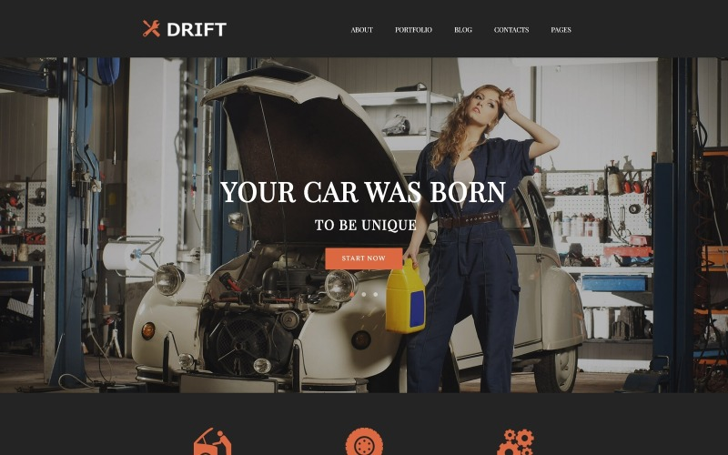Drift - Car Service WordPress Theme