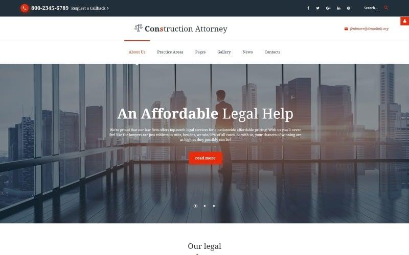 Fenimore - Joomla-Vorlage für Rechtsanwalts- und Rechtsdienste