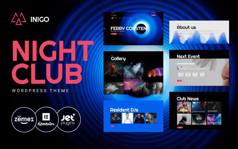 Inigo - Night Club Responsive WordPress Theme