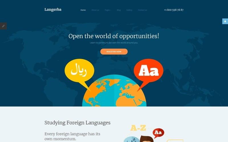 Langerba - Plantilla Joomla para escuela de idiomas