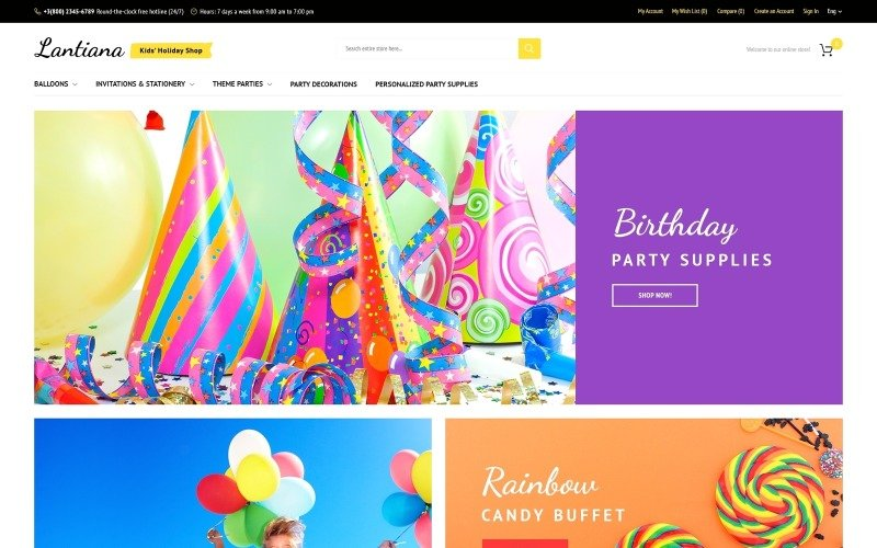 Lantiana - Party Supplies Magento Theme