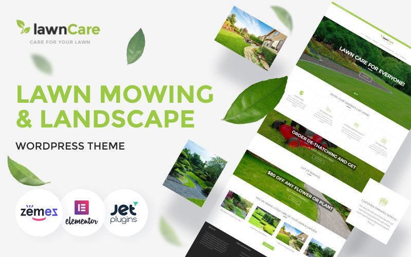 Lawn Care - тема WordPress для газонов и ландшафтов