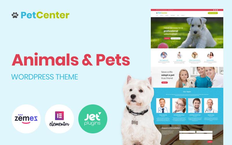 PetCenter - Tema WordPress reattivo per animali e animali domestici