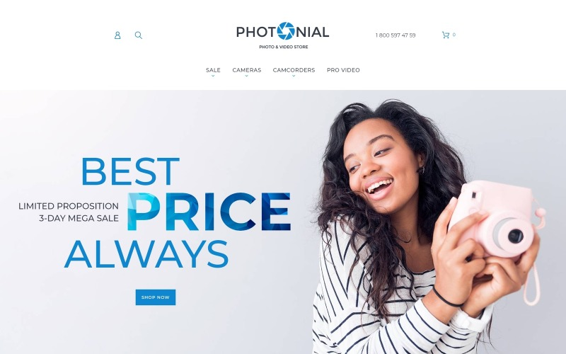 Photonial - Photo & Video Store Magento Theme