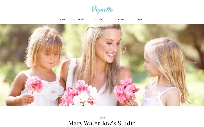 Vignette - WordPress тема для сімейного фотографа та портфоліо
