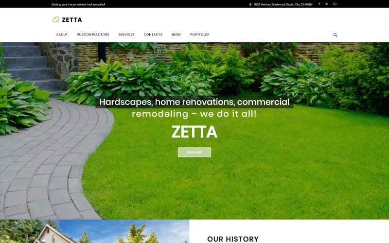Zetta - WordPress тема экстерьера, сада и ландшафта