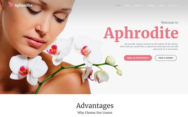 Афродіта - Адаптивна WordPress тема салону краси та SPA
