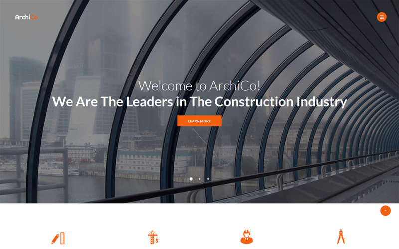 ArchiCo - Construction Company Responsive Multipage Website Template