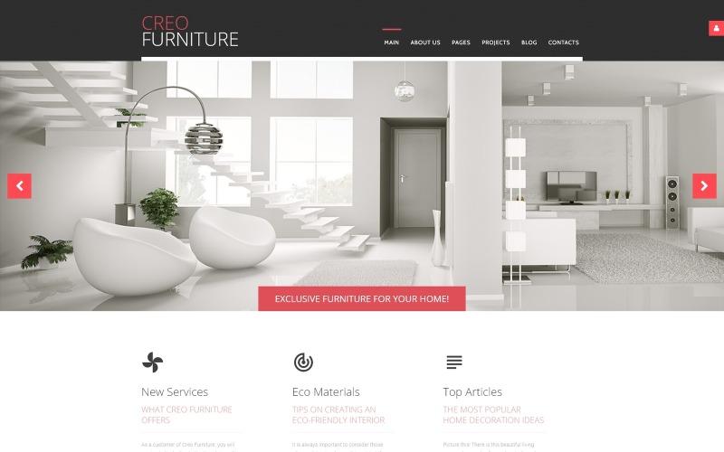 Creo Furniture - Modello Joomla creativo multipagina per mobili