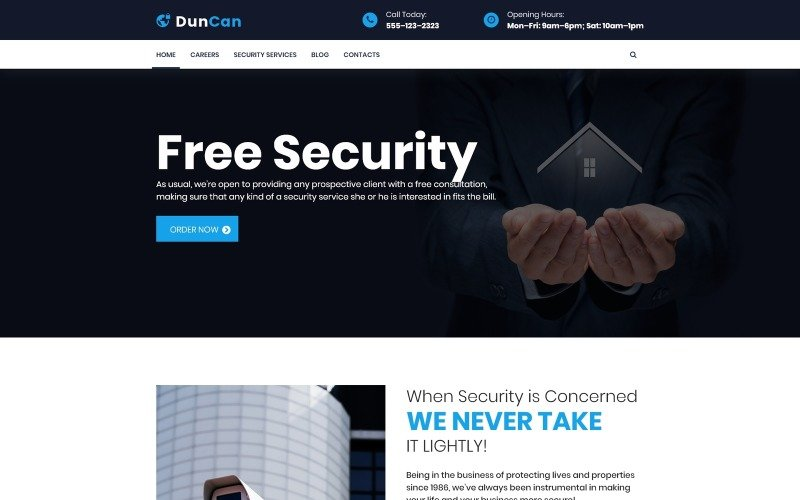 DunCan - Security Systems & Bodyguard Services WordPress Theme