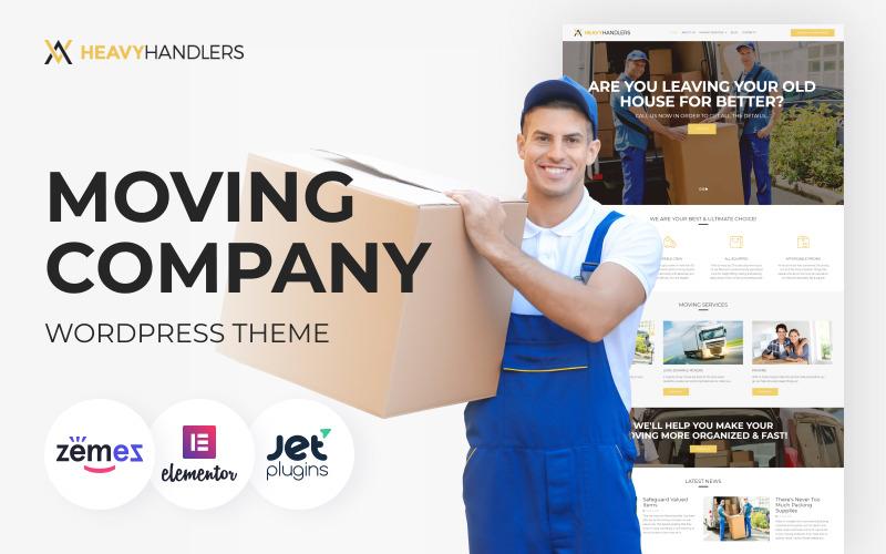 Heavy Handlers - Tema WordPress per società di trasporti e traslochi