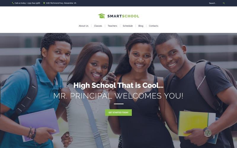 Intelligens iskola - Középiskolai oktatás érzékeny WordPress téma
