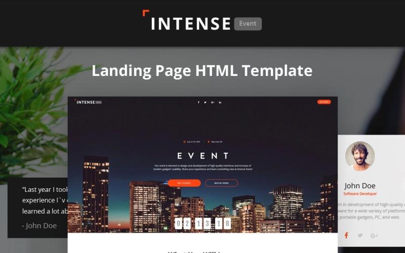 Intense - Plantilla de página de destino HTML5 de Event Planner