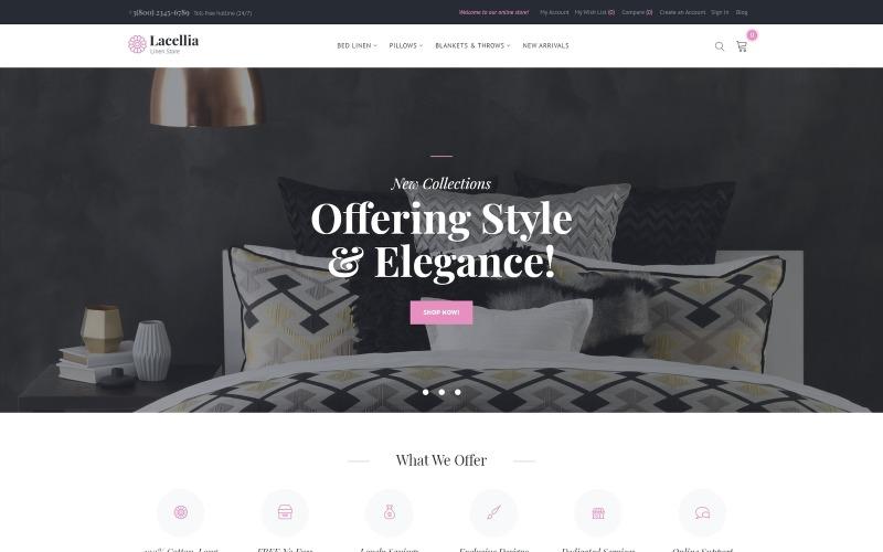 Lacellia - Linen Store Magento Theme