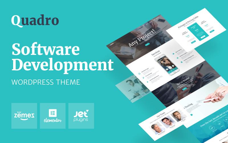 Quadro - softwarová společnost WordPress Theme