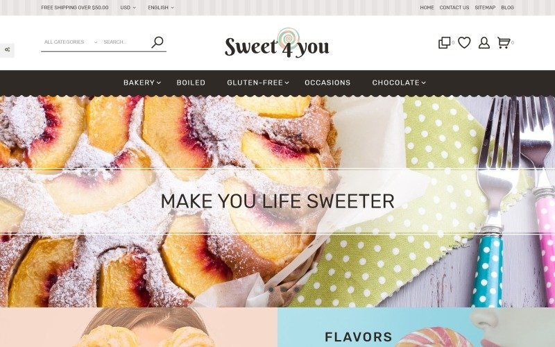 Sweet4you - Sweets Responsive Template for Candy and Cake Shops PrestaShop Theme