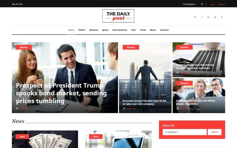 The Daily Post - Media & Latest News WordPress Theme