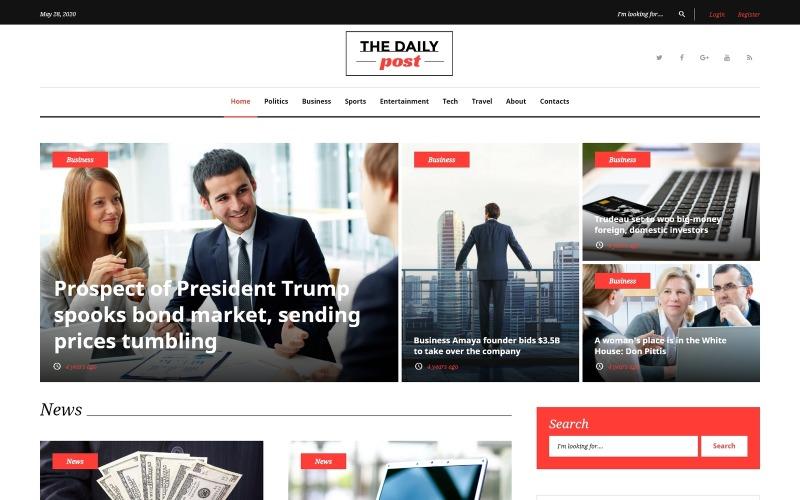 The Daily Post - Media i najnowsze wiadomości Motyw WordPress