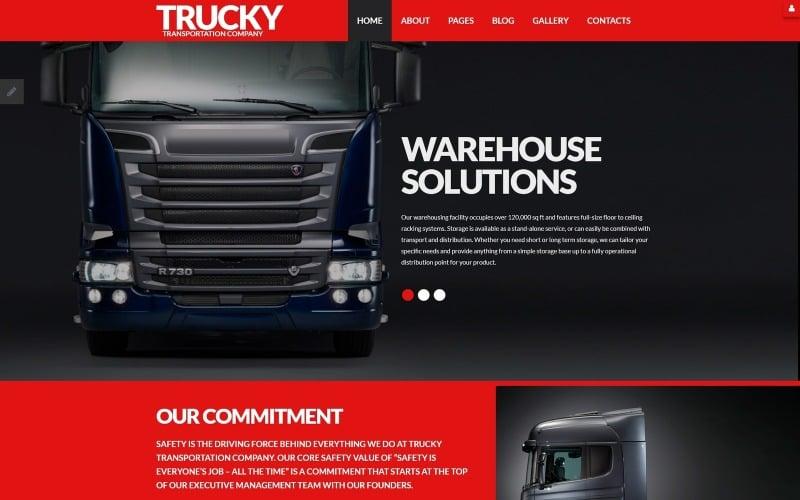 Trucky - Transportation Responsive Joomla Template