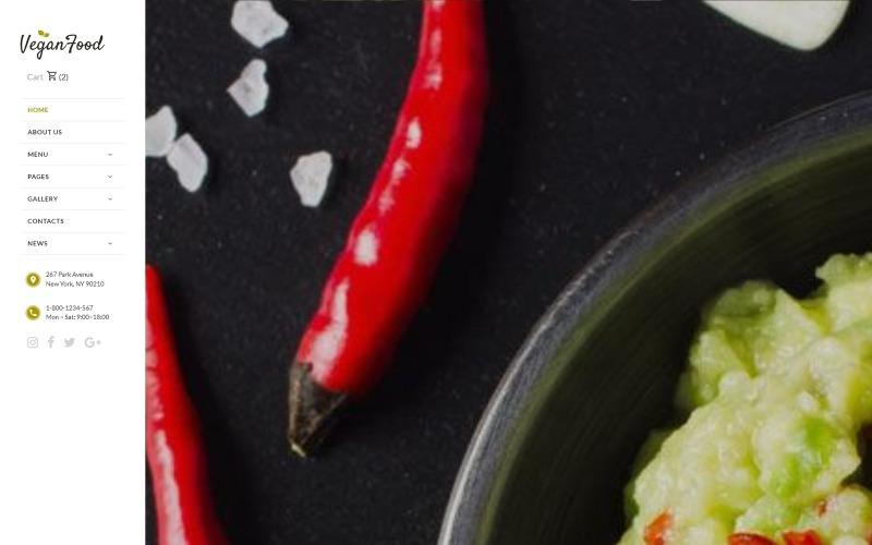 Nourriture végétalienne - Modèle de site Web réactif pour restaurant végétarien