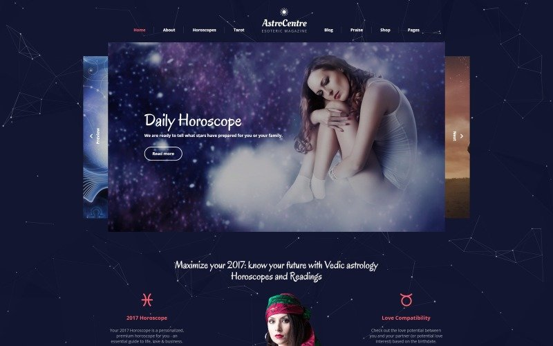 AstroCentre - Astrology Multipage Website Template