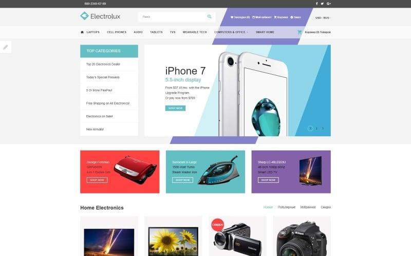 Electronics Store Responsive OpenCart Template