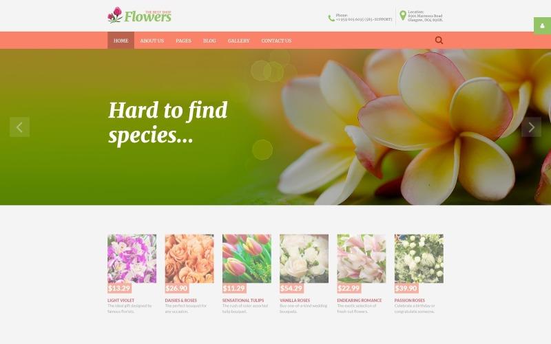 Fleurs - Modèle Joomla réactif pour magasin de fleurs