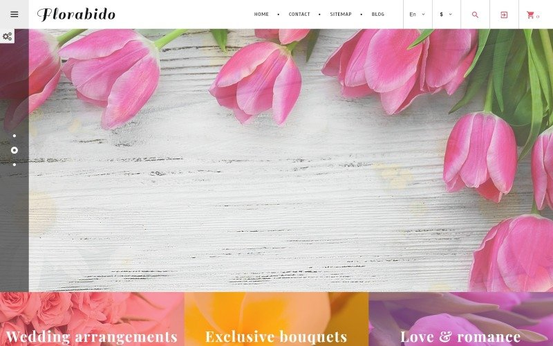Florabido - Thème PrestaShop Bouquets & Arrangements floraux