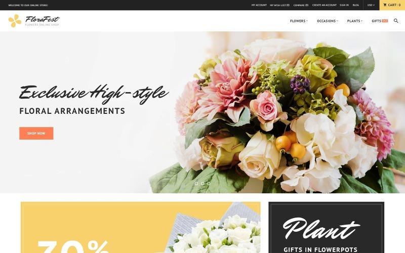 FloraFest - Responsive Magento-Thema im Blumenladen