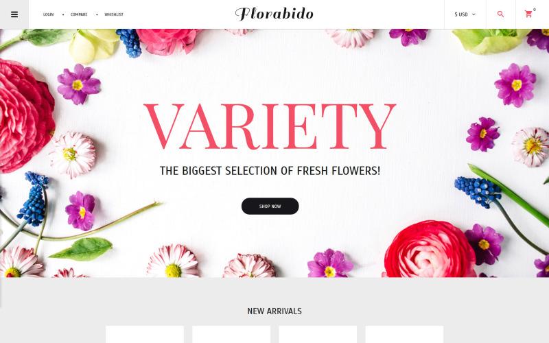 Flower Shop VirtueMart Şablonu