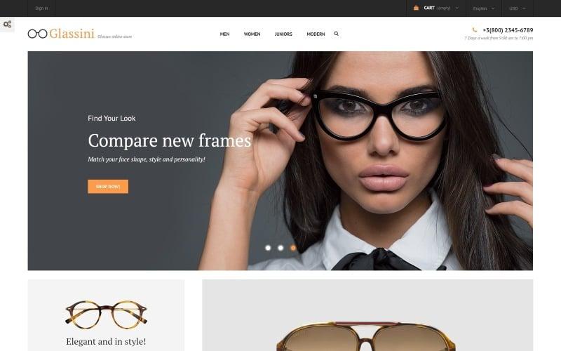Glassini - Tema PrestaShop reattivo per negozio di occhiali