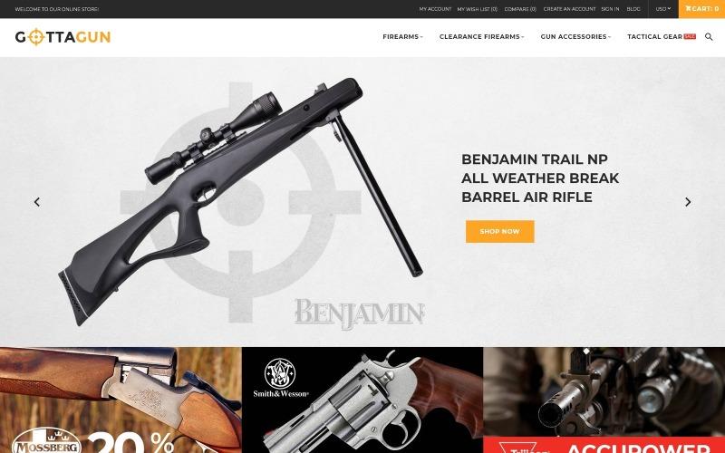 GottaGun - Gun Shop Magento téma