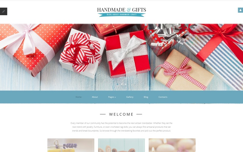 Handmade & Gifts - Crafts Blog and Gift Store Joomla Template